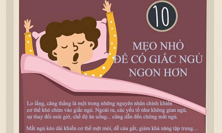 10 mẹo đơn giản giúp cải thiện tình trạng mất ngủ hàng đêm