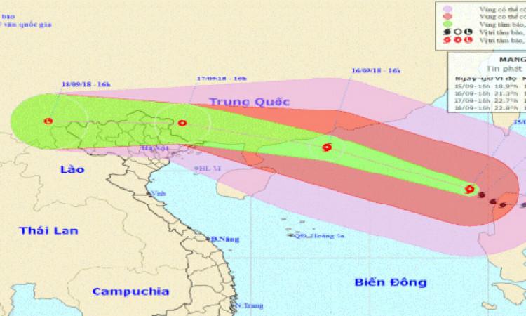 Siêu bão Mangkhut đổ bộ Trung Quốc trước khi ảnh hưởng trực tiếp nước ta