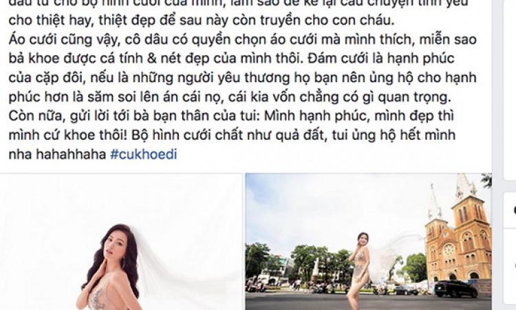 Diệu Nhi bị chê 'vô trách nhiệm' vì khen ảnh phản cảm của Sĩ Thanh
