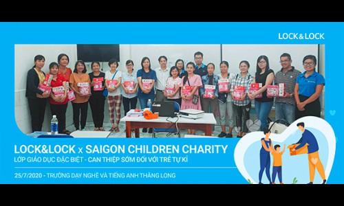 Lock&Lock hợp tác với Saigon Children Charity tổ chức chương trình 'Giáo dục đặc biệt – Can thiệp sớm với trẻ tự kỷ'
