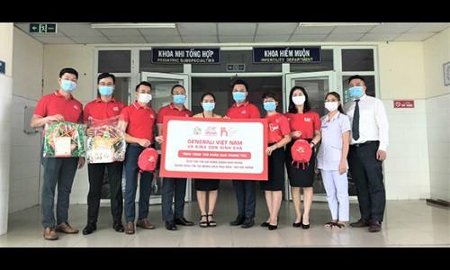 Generali trao tặng 500 phần quà ý nghĩa cho các bệnh nhi khó khăn trên toàn quốc và hỗ trợ công tác chống dịch tại Đà Nẵng