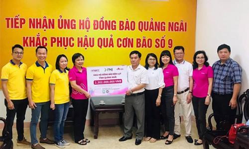 PNJ hỗ trợ bà con Quảng Ngãi khắc phục hậu quả của bão số 9