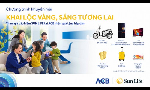 Hàng nghìn quà tặng hấp dẫn từ Sun Life Việt Nam qua kênh phân phối ngân hàng ACB