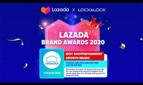 Lock & Lock vinh danh thương hiệu bán chạy và thương hiệu mua sắm kết hợp giải trí nổi bật trên Lazada 2020