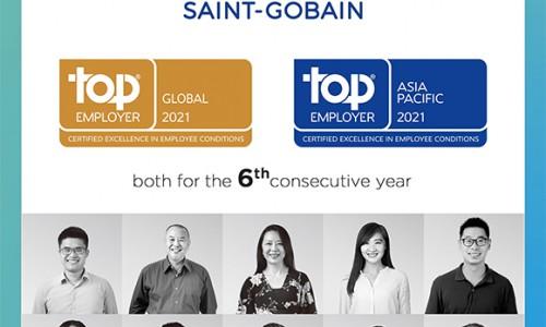 """Năm thứ 6 liên tiếp Saint-Gobain nhận danh hiệu """"Global Top Employer"""""""