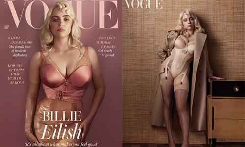Billie Eilish lần đầu mặc gợi cảm trên tạp chí