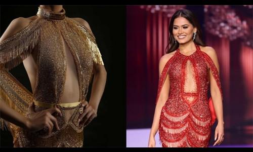 Tân Hoa hậu Hoàn vũ bị tố mặc váy nhái trong đêm đăng quang