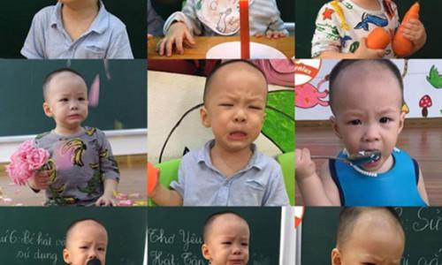 Bé hai tuổi mếu máo suốt một tháng vì không thích đi học