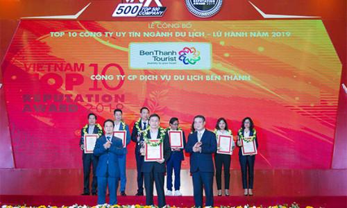 BenThanh Tourist xuất sắc lọt top 3 công ty du lịch Việt Nam uy tín năm 2019