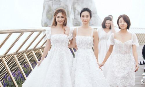 Dàn diễn viên 'Tháng năm rực rỡ' diện váy cưới catwalk trên đỉnh Bà Nà
