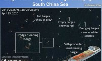 """Ảnh vệ tinh: Tàu Trung Quốc nạo vét cát biển Đông với quy mô """"không tưởng"""""""
