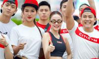 Minh Hằng hào hứng chạy marathon cùng dàn trai đẹp của Citigym
