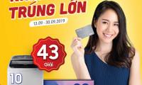 Cơ hội trúng ngay Smart TV Samsung cùng nhiều quà tặng hấp dẫn khi rút tiền từ Thẻ Vay VietCredit
